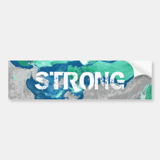 Blue green red and gray Marble Bumper Sticker