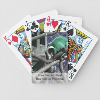 blue green ruffed lemur colorized primate bicycle playing cards