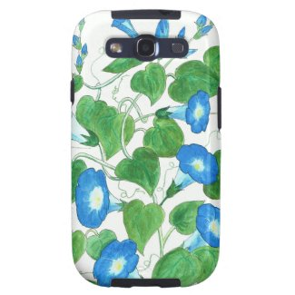 Blue, Green Samsung Galaxy S3 Case, Morning Glory