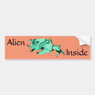 Blue Green Sea Creature Bumper Sticker