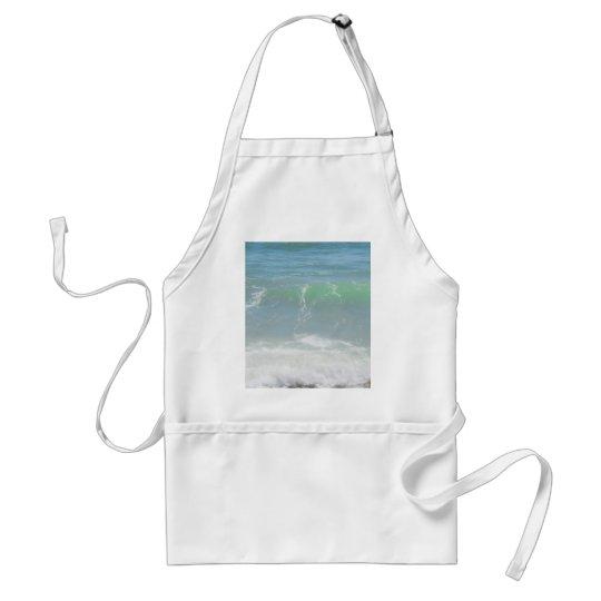 Blue Green Sea Peaceful Waves Adult Apron