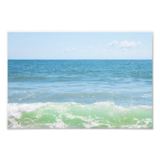 Blue Green Sea Peaceful Waves Photo Print