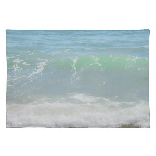Blue Green Sea Peaceful Waves Place Mat