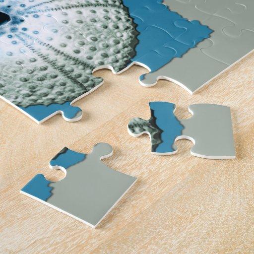Blue & Green Sea Shells Jigsaw Puzzle
