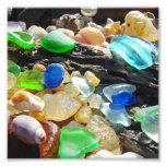 Blue Green Seaglass art Photography nature Beach Photo