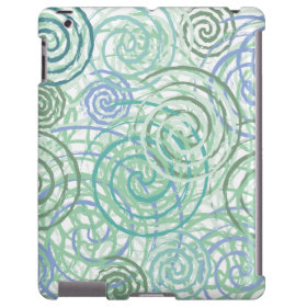Blue Green Seaside Swirls Beach House Design
