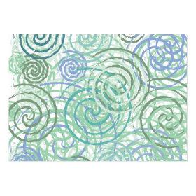 Blue Green Seaside Swirls Beach House Design Business Card