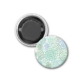 Blue Green Seaside Swirls Beach House Design Refrigerator Magnets