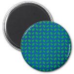Blue green shamrocks and hearts fridge magnet