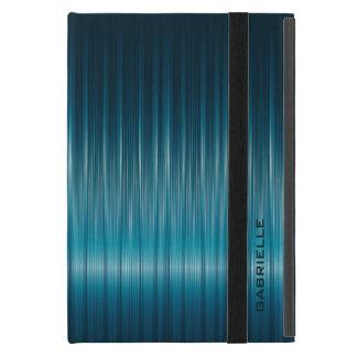 Blue-Green Shiny Carbon Fiber Look iPad Mini Cover