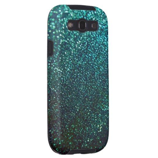 Blue/Green Sparkle Glitter Galaxy Case