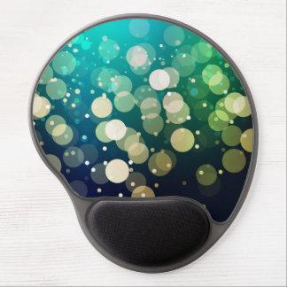 Blue/Green Sparkles Light Design Gel Mouse Pad