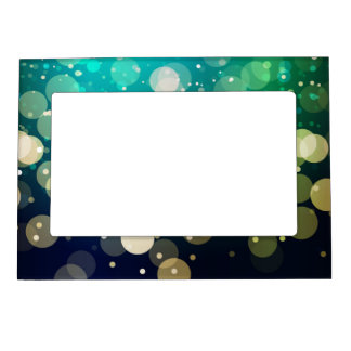 Blue/Green Sparkles Light Design Magnetic Photo Frame