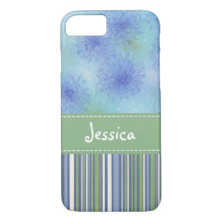 Blue/Green Splashes & Stripes iPhone 8/7 Case