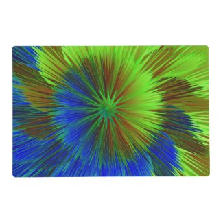 Blue Green Star Burst Placemat