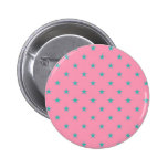 Blue Green Stars on Pink Background Pin