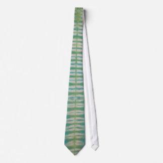 Blue Green Stripe Tie Dye Necktie