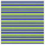 [ Thumbnail: Blue & Green Striped/Lined Pattern Fabric ]