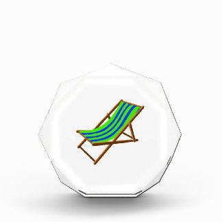 blue green striped wooden beach chair.png acrylic award