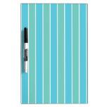 Blue & Green Stripes Dry Erase Board