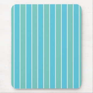 Blue & Green Stripes Mouse Pad