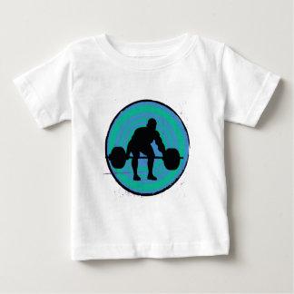 Blue green strong man weightlifter baby T-Shirt