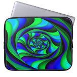 Blue Green Swirl Laptop Computer Sleeve