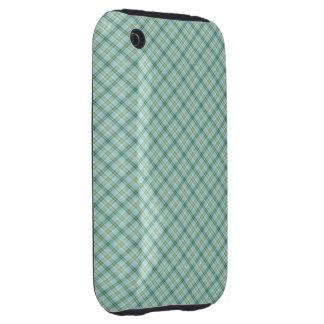 Blue Green Tartan Tough iPhone 3 Case