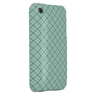 Blue Green Tartan iPhone 3 Case-Mate Case
