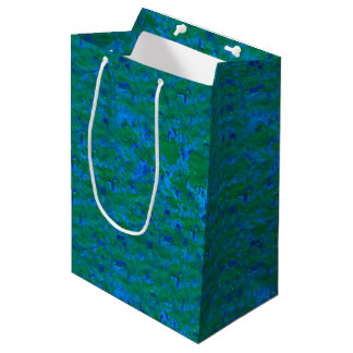 Blue Green Texture Fish in the Sea Medium Gift Bag