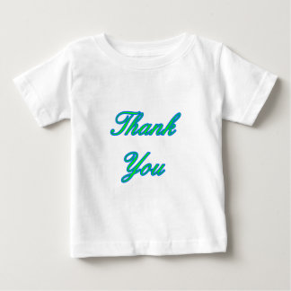 Blue Green Thank You Design The MUSEUM Zazzle Gift Baby T-Shirt