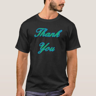 Blue Green Thank You Design The MUSEUM Zazzle Gift T-Shirt