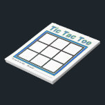 """Blue Green Tic Tac Toe Game Notepad<br><div class=""""desc"""">Keep kids entertained with this 40 page Tic Tac Toe Notepad.  Good for quiet activity during church,  meetings,  travel or entertainment.  Also makes a fun stocking stuffer!</div>"""