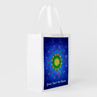 Blue-Green Tie Dye Reusable Grocery Bags