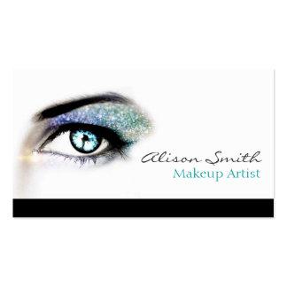 Blue green to glitter eyeshadow - Makeup Artist Business Card