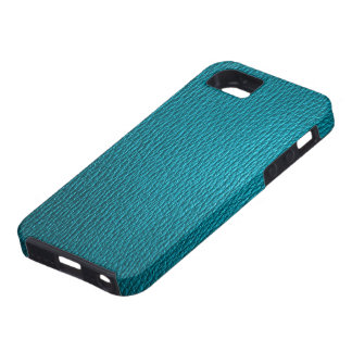 Blue-Green Tones Natural Leather Look iPhone 5 Cases