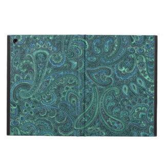Blue-Green Tones Vintage Paisley Pattern iPad Air Cover