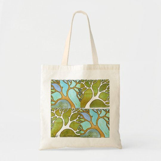 Blue Green Tree Art Bag