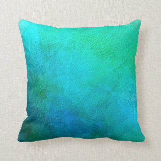 Blue Green Turquoise Abstract Background Art Throw Pillow