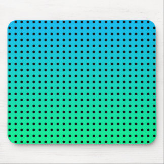 Blue Green Turquoise Polka Dot Pattern Mouse Pad