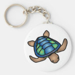 Blue Green Turtle Keychain