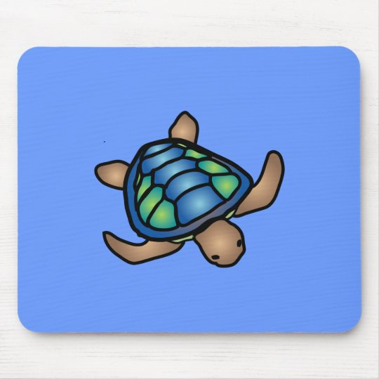 Blue Green Turtle Mousepad