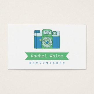 Blue & Green Vintage Camera Biz Card