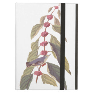 Blue-Green Warbler Audubon Bird with Mulberry Cover For iPad Air