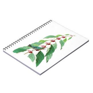 Blue-green Warbler John Audubon Birds of America Spiral Notebook