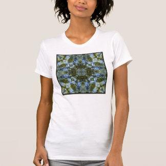 Blue Green Water Abstract T-Shirt
