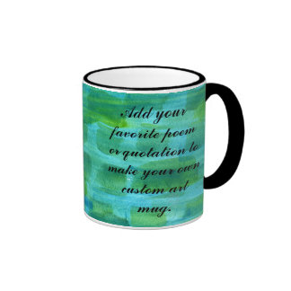 Blue Green Watercolor Background Painting Mugs
