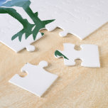 Blue & Green Watercolor Rooster & Hen Jigsaw Puzzles