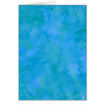 Blue Green Watercolor Texture Pattern Background Stationery Note Card