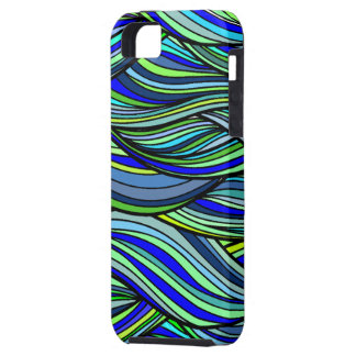 Blue-green Waves iphone 5 case